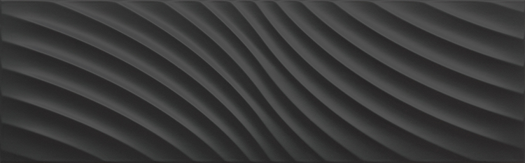 Icon Glossy Waves Black 25,2x80